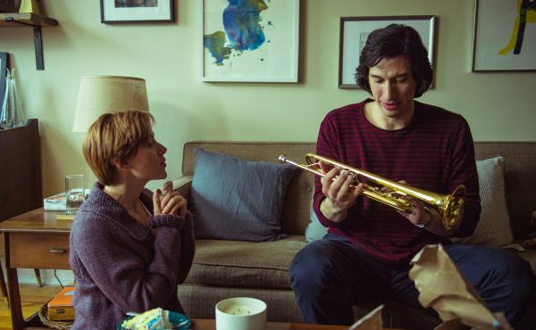 Actors Scarlett Johansson and Adam Driver in a scene from Marriage Story. The award-winning 2019 film can be watched with audio description that conveys scenes to viewers who are visually impaired. But Parasite, another popular award-winner, has not inclu