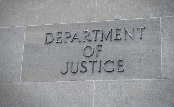 The U.S. Department of Justice is pictured in Washington on Aug. 21, 2019. The Bureau of Justice Statistics released its annual victimization survey on Tuesday.