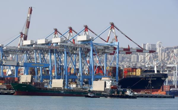 The port of Haifa in northern Israel. The United States is concerned about a deal for China's Shanghai International Port Group to build and control a shipping terminal in Haifa.