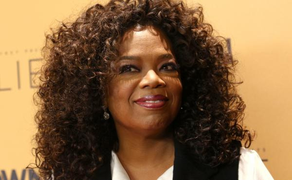 Oprah Winfrey attends the premiere of the Oprah Winfrey Network's documentary series, Belief, at The Times Center in New York.