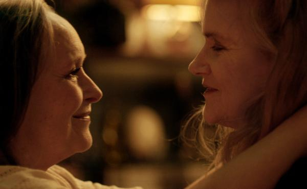Martine Chevallier and Barbara Sukowa play a lesbian couple facing a health crisis in the French film Two of Us.