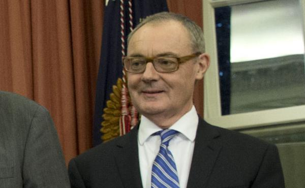 David O'Sullivan, ambassador of the European Union to the U.S., attends a signing ceremony in 2016 at the White House.
