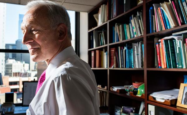Dr. Harry Selker, a cardiologist, works on collaborations to improve delivery of medical care.