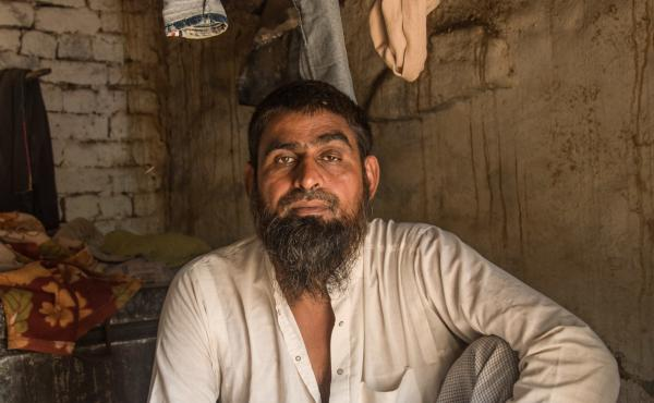 Long-distance truck driver Mohammad Hashim, 45, survived an attack by a Hindu mob last year. A dozen men on motorbikes forced him off the road and beat him. He suffered a broken leg and fractured vertebrae.