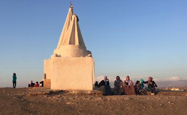 A Yazidi tomb in a village in the Kurdistan region of Iraq. Many families were displaced when ISIS killed hundreds of men and kidnapped thousands of women and children. More than 3,000 Yazidis are still missing.