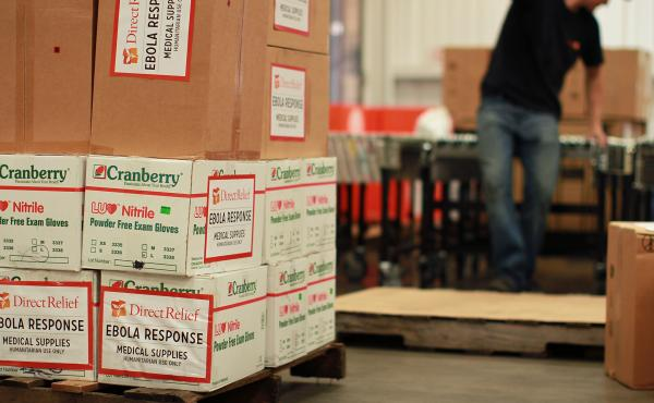 Direct Relief has been shipping medical supplies to West Africa.