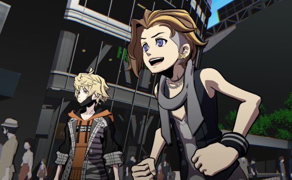 Buddies Rindo and Fret fight for their lives on the streets of a strange alternate Tokyo in NEO: The World Ends With You