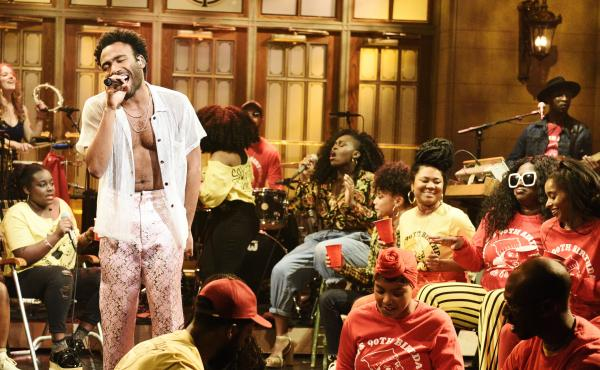Donald Glover, performing as Childish Gambino on Saturday Night Live May 5, 2018.
