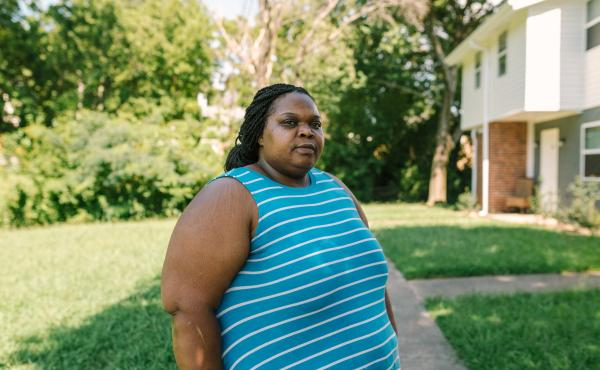 """West Atlanta resident Harriet Feggins has been out of work since March because of the pandemic. So far she has managed to pay her electric bill by scraping together odd jobs and dipping into her 401(k). """"I'm trying to do everything I can,"""" she says, but s"""