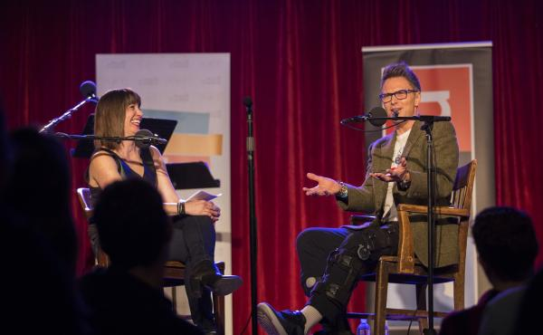 Tim Daly with Ophira Eisenberg on Ask Me Another.