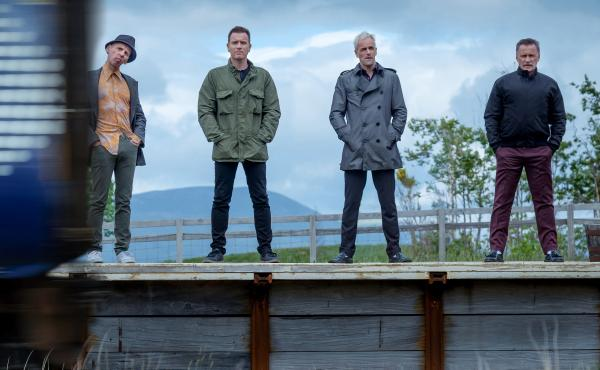Getting the band back together: Ewen Bremner, Ewan McGregor, Jonny Lee Miller and Robert Carlyle return for T2 Trainspotting.