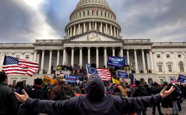 Pro-Trump protesters gather in front of the U.S. Capitol Building on Jan. 6, 2021 in Washington, D.C. They gathered to protest the ratification of President-elect Joe Biden's Electoral College victory over President Trump in the 2020 election. A pro-Trump
