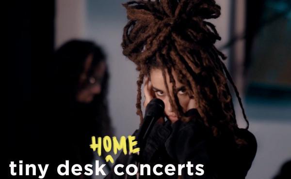Calma Carmona performs a Tiny Desk (home) concert.