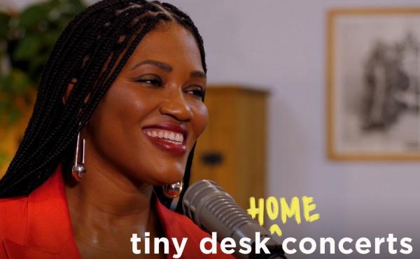 Luedji Luna performs a Tiny Desk (home) concert.