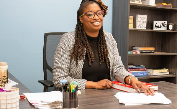 Dr. Danielle Hairston, a psychiatry residency director at Howard University in Washington, D.C., trains and mentors young black doctors.