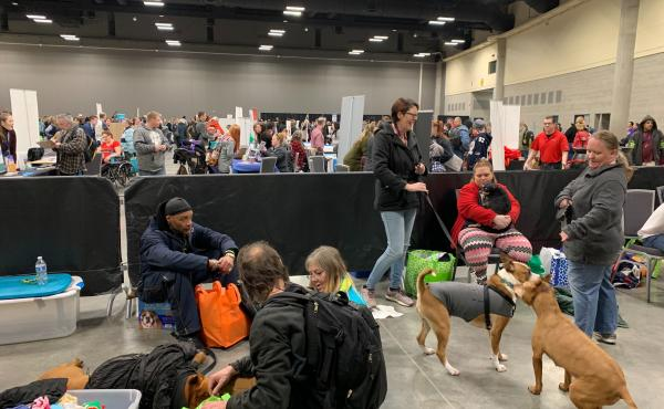 Organizers of the Homeless Connect say the event outgrew its old space at the Salvation Army and had to be moved to the city's large downtown convention center.