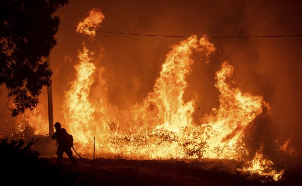 PG&E pre-emptively shut down power in multiple Northern California counties to try to prevent wildfires, such as this recent fire in the Shasta-Trinity National Forest.
