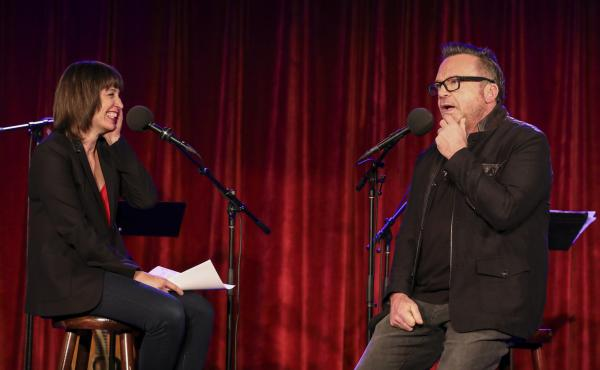 Ophira Eisenberg chats with Tom Arnold on Ask Me Another at the Bell House in Brooklyn, New York.