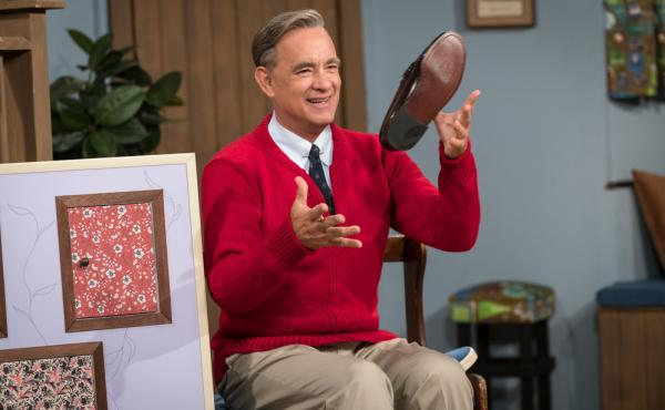 """Tom Hanks stars as Fred Rogers in A Beautiful Day in the Neighborhood. Hanks watched a lot of Mister Rogers to research the role and found as an adult, you don't really """"get it"""": """"Why is it taking so long? What's the big deal? What are these fish?"""""""