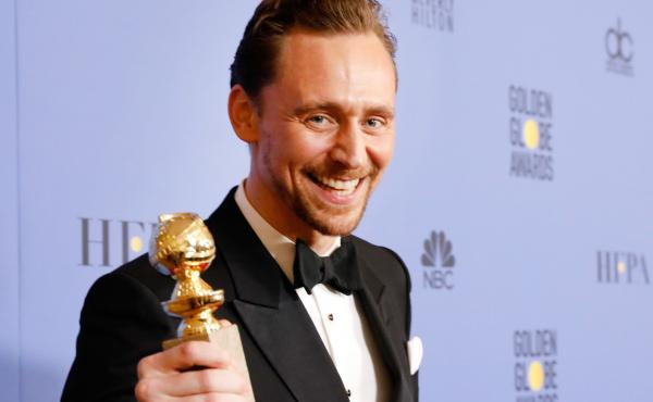 Actor Tom Hiddleston caused a stir on Twitter when he spoke after winning a best actor Golden Globe for his TV series The Night Manager.