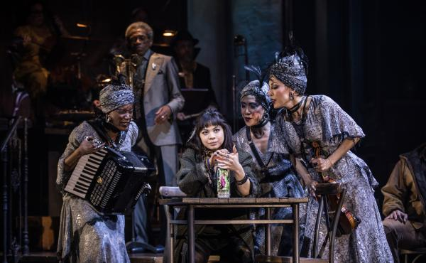Hadestown was nominated for 14 Tony Awards, including one for best musical and another for best leading actress in a musical (Eva Noblezada, center). The awards ceremony is scheduled for June 9.
