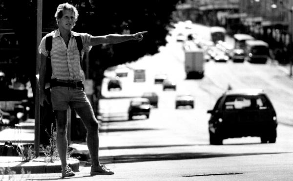 Tony Horwitz, seen hitchhiking in Australia in 1986, wrote about the experience later in his book One for the Road: Hitchhiking Through the Australian Outback. Horwitz, who would go on to win the 1995 Pulitzer Prize for national reporting, died Monday at
