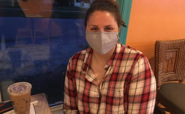 Monica Scott, a Biden supporter, said she hopes President Trump's positive coronavirus test will cause more Americans to take the virus seriously.