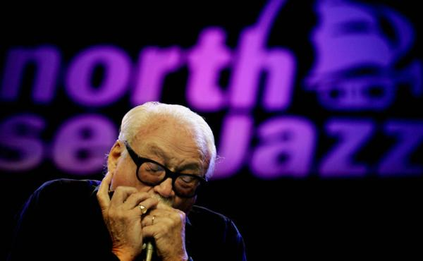Toots Thielemans performs at the North Sea Jazz Festival in the Netherlands in 2005.