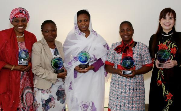 Rabia Salihu Sai'id, Mojisola Usikalu, Nashwa Eassa, Mojisola Oluwayemisi and Dang Thi Oanh won the Elsevier Foundation Awards for Early Career Women Scientists in the Developing World