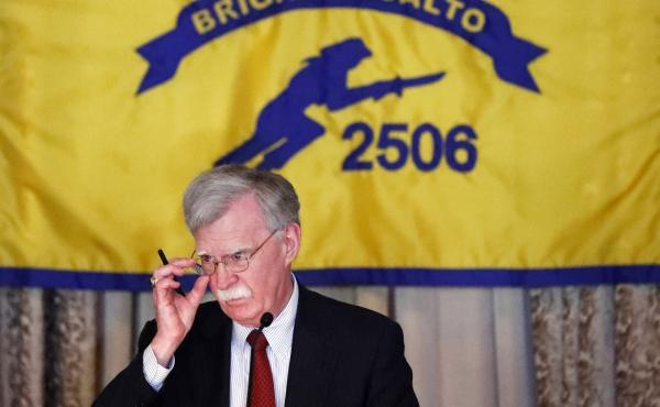 National security adviser John Bolton discusses new administration policy regarding Cuba, Venezuela and Nicaragua on Wednesday in Florida.