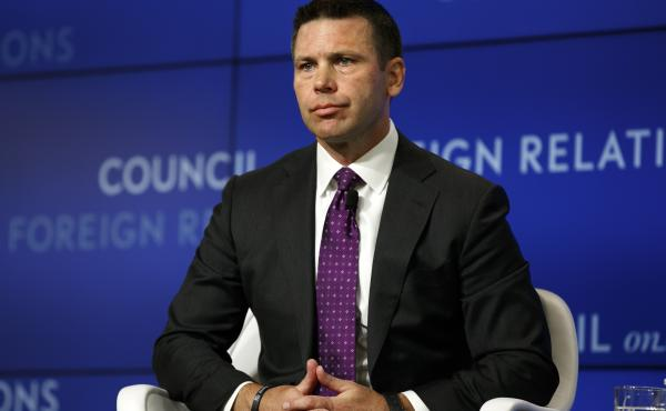 Acting Homeland Security Secretary Kevin McAleenan listens to a question at the Council on Foreign Relations,  Sept. 23, 2019, in Washington, D.C.