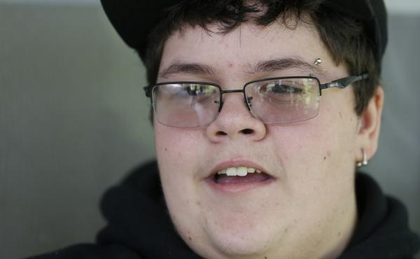 Gavin Grimm speaks during an interview at his home in Gloucester, Va., in 2015. Grimm sued his school district for the right to use the boys' bathroom; the case is scheduled to be argued before the Supreme Court next month.