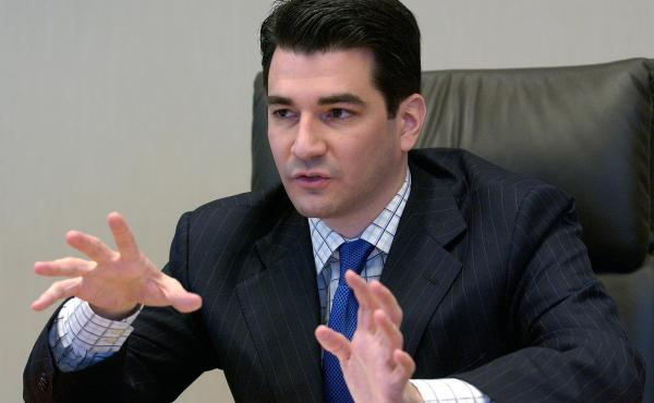 Scott Gottlieb, FDA deputy commissioner for policy, speaks to reporters at the Reuters Health summit in New York in 2005.