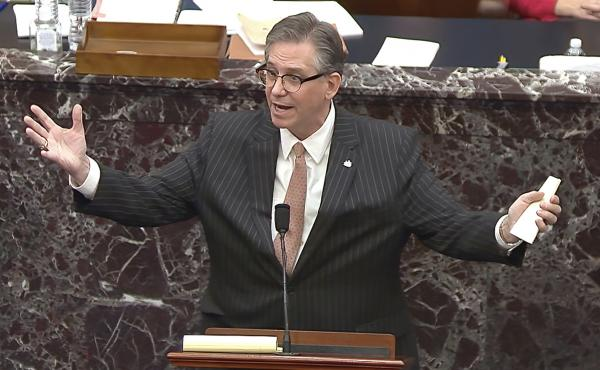 Attorney Bruce Castor represented former President Donald Trump at his Senate trial after the House of Representatives impeached Trump for the second time. Castor is now defending two people facing misdemeanor charges related to the Jan. 6 U.S. Capitol ri
