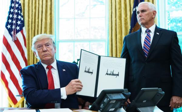 President Trump signed an executive order authorizing economic sanctions against Iranian Supreme Leader Ayatollah Ali Khamenei on Monday, after Iran shot down a U.S. drone last week.