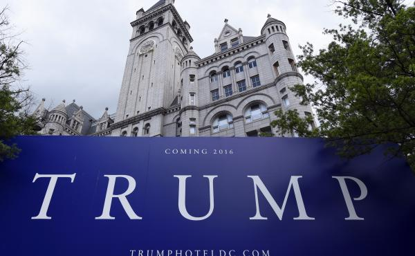 The Trump Organization and celebrity chef José Andrés announced a settlement on Friday in the two-year legal dispute over a flagship restaurant in Trump's Washington, D.C. hotel. Above, the Old Post Office building in July 2015 under renovation before t