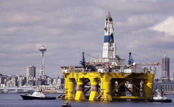 The drilling rig Polar Pioneer outfits for Arctic oil exploration in 2015. A proposed rule from the Trump administration would force banks to offer financing to oil companies, gun-makers and high-cost payday lenders, even if the banks don't want to.