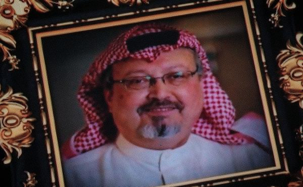 """President Trump says the U.S. will remain a """"steadfast partner"""" of Saudi Arabia, despite the killing of journalist Jamal Khashoggi, whose image was shown on a screen at a memorial earlier this month."""