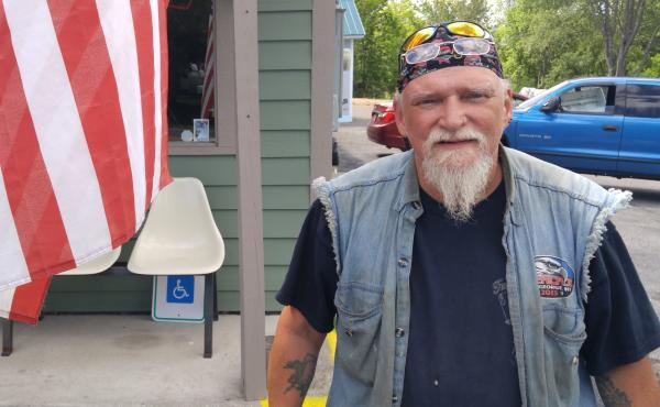 Christopher LaMothe in Mineville, N.Y., says he hates Nazis and white supremacists, but he thinks Black Lives Matter is just as bad.