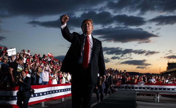 President Trump, shown at an event in Montoursville, Pa., in May, is calling a rally in Orlando, Fla., on Tuesday a campaign kickoff.