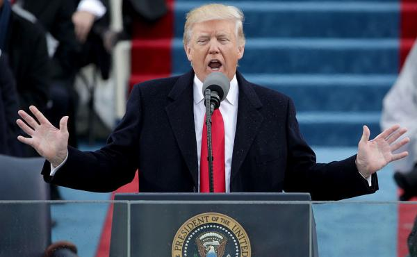 President Trump's address to a joint session of Congress on Tuesday night is expected to strike a more optimistic tone than his inaugural address did last month.