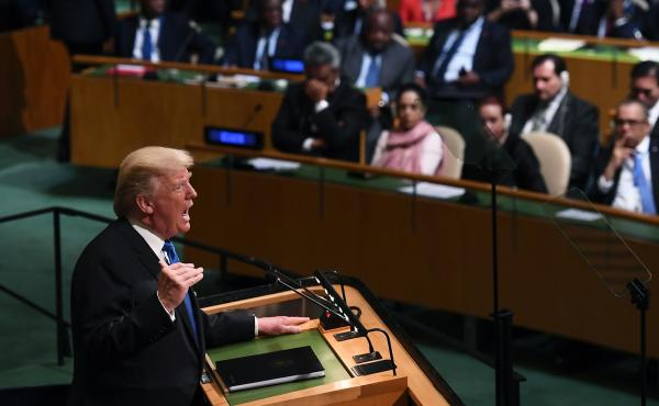 President Trump applauded the U.N. Security Council for its recent votes to impose tough economic sanctions on North Korea, during an address to the U.N. General Assembly on Tuesday.