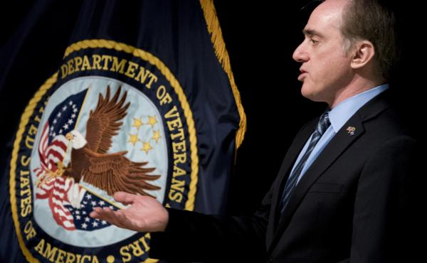 Then-Veterans Affairs Secretary David Shulkin speaks at a news conference on March 7, 2018.