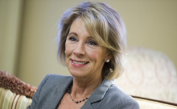 Betsy DeVos, nominee for education secretary.