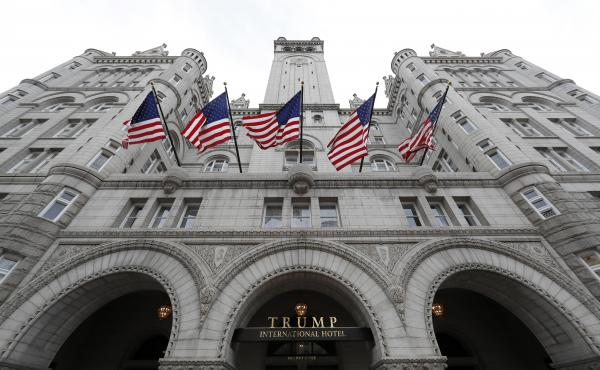 The 60-year lease Trump holds on his Washington, D.C., hotel, is with the U.S. General Services Administration, which owns the building where the hotel is located.