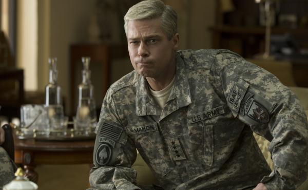 Brad Pitt in War Machine.