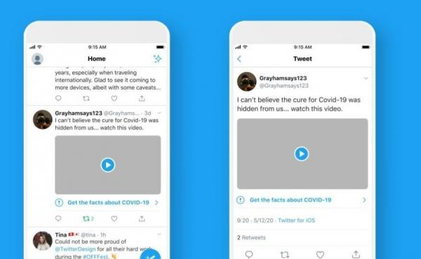 Twitter announced on Monday that tweets related to the coronavirus containing misleading, disputed or unverified claims will now carry labels warning users about the content.