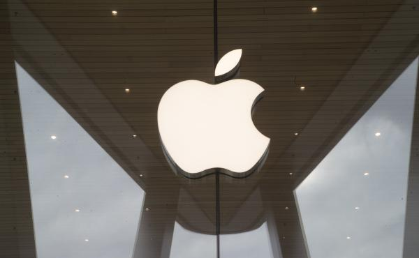 An Apple store in the Brooklyn borough of New York. Two students in Oregon allegedly defrauded the company out of nearly $900,000, according to a criminal complaint.