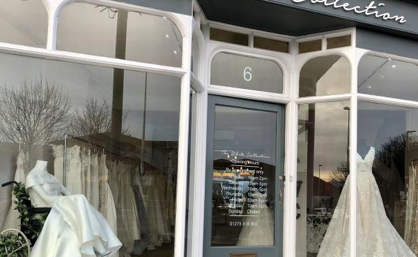 A bridal mannequin sitting in a wheelchair in a small shop display has gotten big attention.