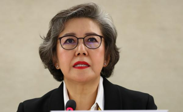 Yanghee Lee, the U.N. special rapporteur on Myanmar, pictured on March 11.
